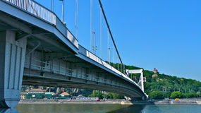 Elizabeth (Erzsebet) bridge Royalty Free Stock Photos
