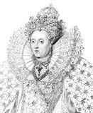 Elizabeth I stock photography
