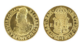 Elizabeth I Gold Sovereign Stock Photo