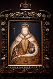 Portrait of Queen Elizabeth I, by an unkown English artist. royalty free stock photo