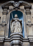 Elizabeth I Statue at St Dunstan-in-the-West. An original statue of Elizabeth I in the courtyard of St Dunstan-in-the-West Church. It is the oldest outdoor Royalty Free Stock Images