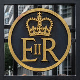 Elizabeth II crest Royalty Free Stock Photography