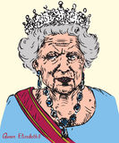 Elizabeth II Elizabeth Alexandra Mary, Queen of the United Kingdom, Canada, Australia, and New Zealand, Head of the Commonwealth stock illustration