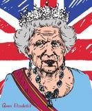 Elizabeth II (Elizabeth Alexandra Mary), rainha do Reino Unido, Canadá, Austrália e Nova Zelândia, cabeça do ilustração do vetor