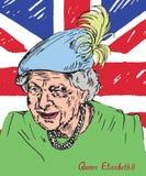 Elizabeth II Elizabeth Alexandra Mary, rainha do Reino Unido, do Canadá, da Austrália, e da Nova Zelândia, cabeça da comunidade ilustração royalty free