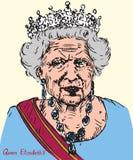 Elizabeth II Elizabeth Alexandra Mary, rainha do Reino Unido, do Canadá, da Austrália, e da Nova Zelândia, cabeça da comunidade ilustração stock
