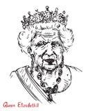 Elizabeth II Elizabeth Alexandra Mary, rainha do Reino Unido, do Canadá, da Austrália, e da Nova Zelândia, cabeça do Commonwealt ilustração royalty free