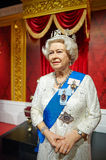 Elizabeth II of United Kingdom wax statue royalty free stock photo