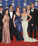 Elizabeth Moss, Christina Hendricks, Januari Jones, John Hamm Royaltyfria Bilder