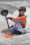 Elizabeth Neave in water slalom world cup race Stock Images