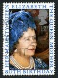 Elizabeth o selo postal do Reino Unido da mãe de rainha Fotos de Stock