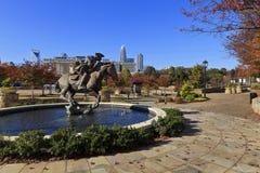 Elizabeth Park in Uptown Charlotte Stock Images