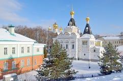 Elizabeth Prison Church in Dmitrov der Kreml, Russland, Moskau Regio lizenzfreies stockbild