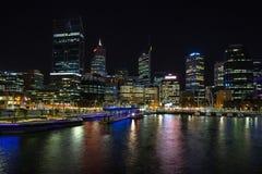 Elizabeth Quay à Perth Image libre de droits
