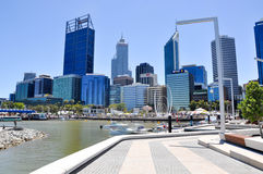 Elizabeth Quay Artificial Inlet in Perth Royalty Free Stock Image
