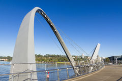 Elizabeth Quay Bridge Royaltyfria Bilder