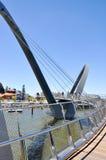 Elizabeth Quay Bridge in Perth Stock Photography