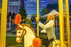 Elizabeth Quay Carousel Perth Stockbild