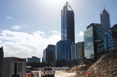 Elizabeth Quay Construction Site. Elizabeth Quay (formerly Perth Waterfront) under construction,an urban renewal project by the West Australia Government Stock Photography