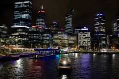 Elizabeth Quay historia Perth Australia Zdjęcie Stock