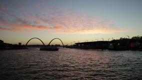 Elizabeth Quay mosta zmierzch zbiory wideo