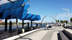 Elizabeth Quay, Perth, Australia occidental almacen de video