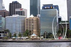 Elizabeth Quay, Perth, West-Australien Lizenzfreie Stockfotos