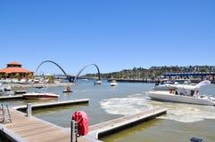 Elizabeth Quay: Perth, Western Austrlia Royalty Free Stock Photo