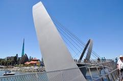 Elizabeth Quay Zwyczajny most Obraz Stock