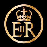 Elizabeth's Reign Emblem. The seal found on several of Englands gates in London Royalty Free Stock Photo