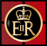 Elizabeth's Reign. The seal found on several of Englands gates in London. Elizabeth's Reign Royalty Free Stock Images