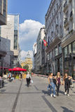 Elizabeth Square in Budapest, Hungary. Royalty Free Stock Photography