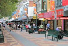 Hobart city shopping Australia  Stock Photo