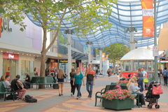 Hobart city shopping Australia  Stock Images