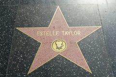 Elizabeth Taylor gwiazda na Hollywood spacerze sława zdjęcia stock