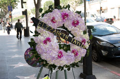 Elizabeth Taylor's funeral wreath in Los Angeles Stock Photo