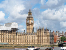 Elizabeth Tower with Big Ben bell insid, Palace of Westminster in London Royalty Free Stock Photos