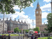 Elizabeth Tower with Big Ben bell inside, Palace of Westminster in London Stock Image