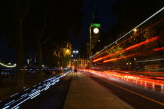 Elizabeth Tower, Big Ben na noite Fotografia de Stock Royalty Free
