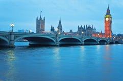 Elizabeth Tower, conhecido como Big Ben em Londres Imagens de Stock