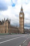 Elizabeth Tower, conocido como Big Ben en Londres Foto de archivo
