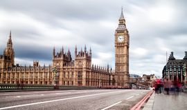 Elizabeth Tower in London also known as Big Ben Stock Photography