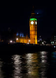 Elizabeth Tower at night Royalty Free Stock Photography