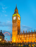 The Elizabeth Tower of the Palace of Westminster Stock Photo