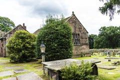 Elizabethaans Schoolgebouw in St Marys, Onder- Alderley-Parochiekerk in Cheshire Stock Fotografie