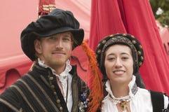 Elizabethaanse actoren Stock Afbeeldingen