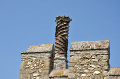 Elizabethan Chimney on castle Stock Images