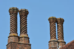 Elizabethan Chimneys on roof Royalty Free Stock Photo