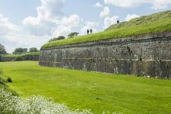 Elizabethan fortifications Berwick upon Tweed. Elizabethan Walls surrounding Berwick upon Tweed in Northumberland, England Stock Photos