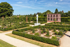 Elizabethan Garden, Kenilworth Castle, Warwickshire. The re-created Elizabethan Garden as seen from the terrace Royalty Free Stock Image